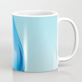 Drop on blue background, world water day Coffee Mug