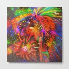 Neon Indian Metal Print