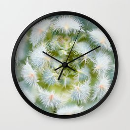 Cactus close-up shot, natural floral abstract Wall Clock