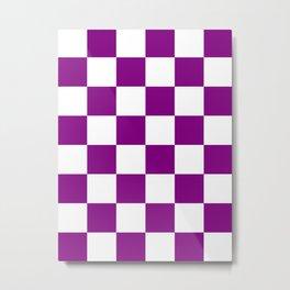 Large Diamonds - White and Purple Violet Metal Print
