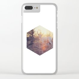 Magical Deer - Geometric Photography Clear iPhone Case