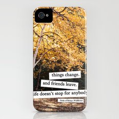 perks of being a wallflower - life doesn't stop for anybody iPhone (4, 4s) Slim Case