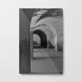 Fort Pulaski B&W Metal Print