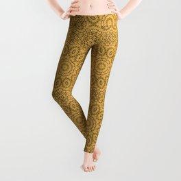 Mustard color ornament Leggings