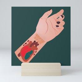 I Wear My Heart On My Sleeve Mini Art Print