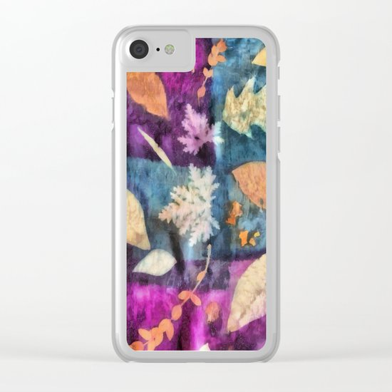 Colorful fallen leaves abstract Clear iPhone Case