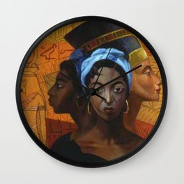 Classical African American Landscape 'Secret History of the Black Race' by Lois Jones Wall Clock
