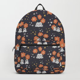 Ghosty love seamless pattern Backpack