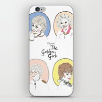 golden girls iPhone & iPod Skins featuring I Heart the Golden Girls Print by Jackie Thomson