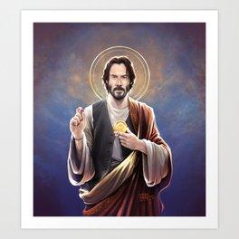 Saint Keanu of Reeves Art Print