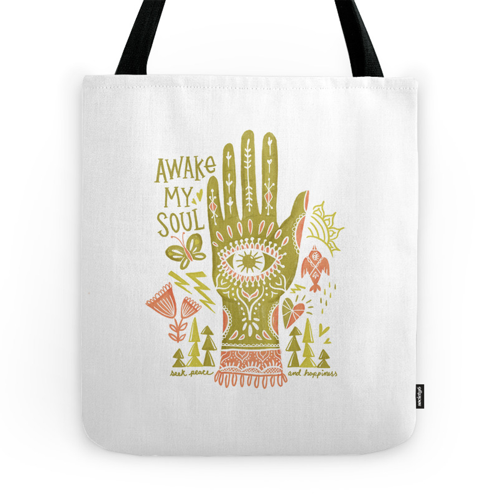 Awake My Soul Tote Purse by monkeymindesign (TBG7211535) photo