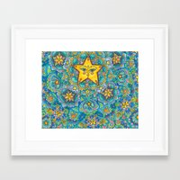 constellations Framed Art Prints featuring Constellations by Emilie Darlington