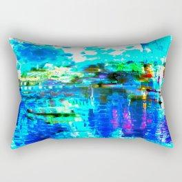 Blue River Abstract Rectangular Pillow