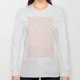 Hand drawn dots on pink - Mix & Match with Simplicty of life Long Sleeve T-shirt