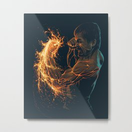 Lava Punch Pacquiao Metal Print