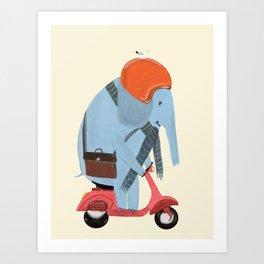 the elephant mobile Art Print