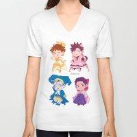 haikyuu V-neck T-shirts featuring CCS captains by JohannaTheMad
