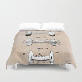 patent art Jowett Dumb Bell 1927 Duvet Cover