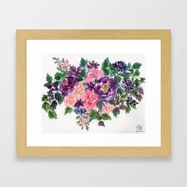 Botanical Bouquet Painting Framed Art Print