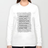 helvetica Long Sleeve T-shirts featuring Helvetica Jumble by SpareType