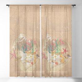 Ocean Love Treasures Sheer Curtain