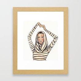 Striped Hoodie! Framed Art Print