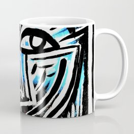 """""""Excuse me?"""" Abstract Face Painting Coffee Mug"""
