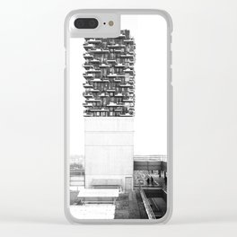 Architecture of Impossible_Spread Pavia Clear iPhone Case