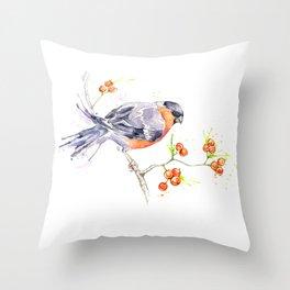 British Birds 2012 Series - Bullfinch Throw Pillow