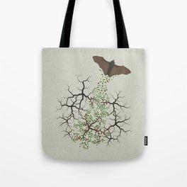 fruit bat paints forest Tote Bag