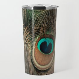 Peacock feathers abstract II Travel Mug