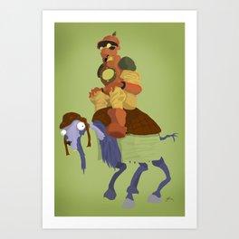 Horsey Art Print