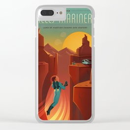 SpaceX Travel Poster: Valles Marineris, Mars Clear iPhone Case