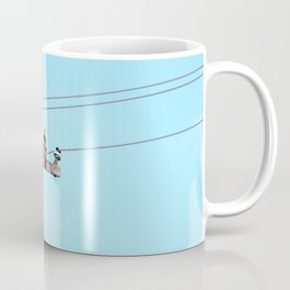 Red Tailed Hawk on Pole Coffee Mug