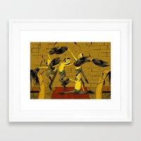 lemongrab Framed Art Prints featuring Lemongrab by Ana Rocha