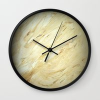 lawyer Wall Clocks featuring Old World Marble II by Corbin Henry
