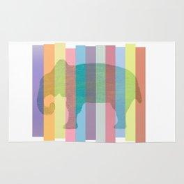 Color Elephant Rug