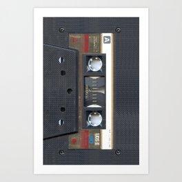 Cassette Gold Art Print