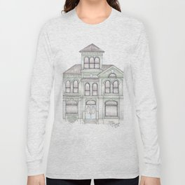 Green Italianate Victorian Long Sleeve T-shirt