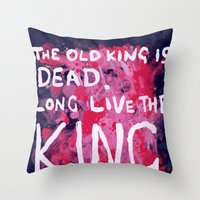 """coldplay Throw Pillows featuring """"Long Live The King""""-Coldplay by Fabfari"""