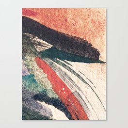 Thunder&Lightning {3}: Minimal watercolor abstract in pinks, blues, and greens Canvas Print