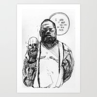 notorious big Art Prints featuring Notorious BIG by Maddison