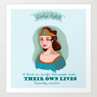 downton abbey Art Prints featuring Lady Sybil Crawley Downton Abbey by chiclemonade