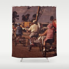 Tricycle Club Shower Curtain