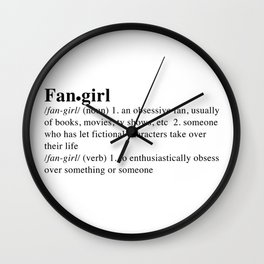 fangirl Wall Clock