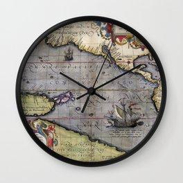 Pacific Sea- Ortelius - 1589 Wall Clock