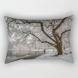 Boston Garden - winter walk Rectangular Pillow