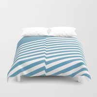 bands Duvet Covers featuring Blue Bands R. by blacknote