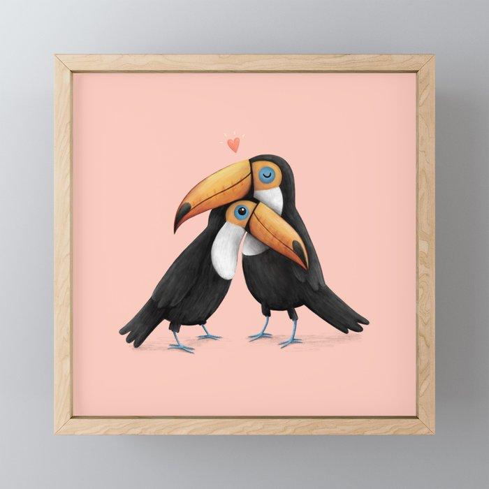 Toucan Love Framed Mini Art Print