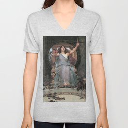 Circe offering the Cup to Odysseus - John William Waterhouse Unisex V-Neck